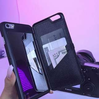 Mobile Case, Card Holder And Mirror (3 In 1)