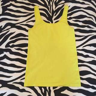 bright yellow country road singlet