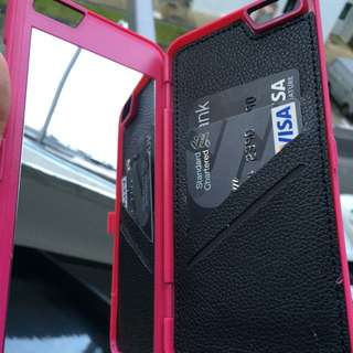 Mobile Case, Wallet And Mirror All In 1