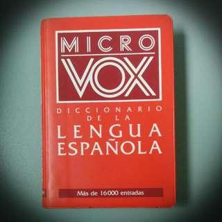 ◣◥二手◢◤Bibliograf Micro Vox 西英袖珍隨身字典