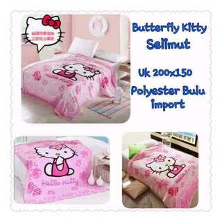 butterfly kitty selimut