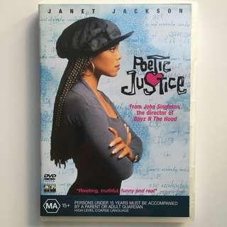 POETIC JUSTICE DVD Janet Jackson & Tupac Shakur