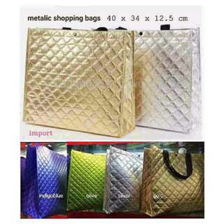 METALIC shopibags