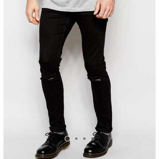 BNWT Cheap Monday Black Ripped Jeans