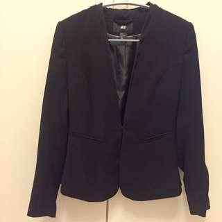 H&M單扣短版西裝外套