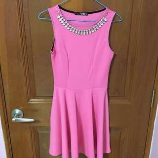 Pink dress Free size