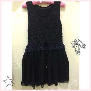 黑色蕾絲玫瑰小洋裝💋