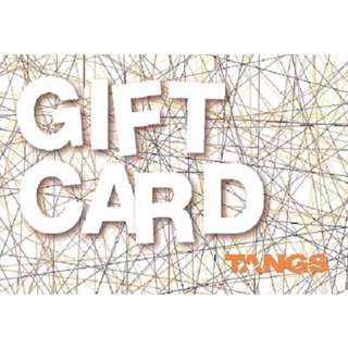 TANGS GIFT CARD WORTH $400