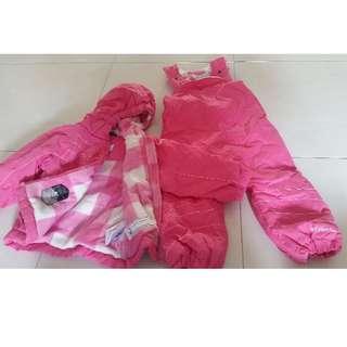Newly used 2T columbia Snow suit winter coat jacket ski bibs pants fleece