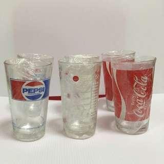 Vintage Coke, Sarsi And Pepsi Glasses (RESERVED)