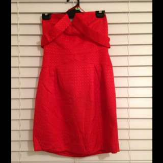 Seduce Red Strapless Party Dress