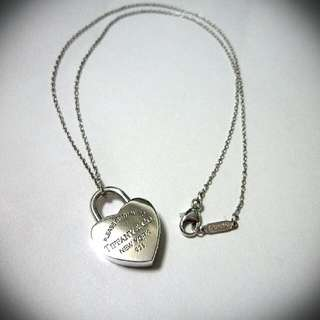 Tiffany&Co. 純銀心型鎖頭項鍊