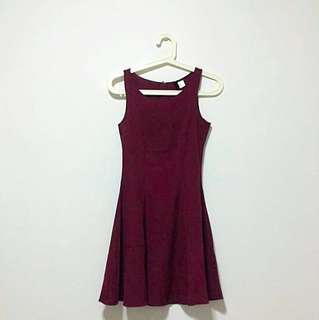 HNM Maroon Skater Dress