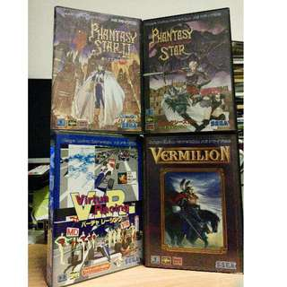 Sega Megadrive Games - Phantasy Star 2, Phantasy Star 4, Sword of Vermillion,  Virtua Racing