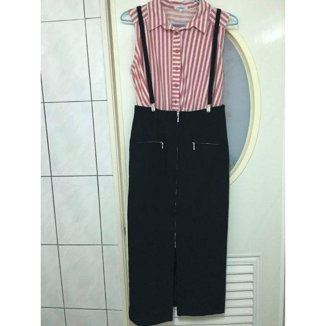 窄版黑色吊帶裙