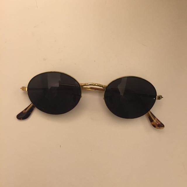 復古造型金眶眼鏡