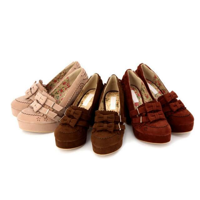 徵求 Liz Lisa 高跟鞋 紅或咖 35/s