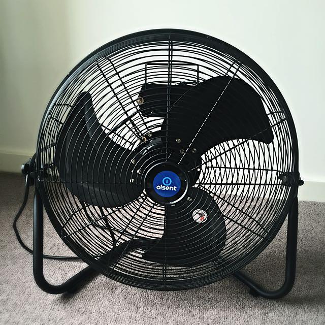 🦄 Olsent Hi Velocity Floor Fan Black 💕