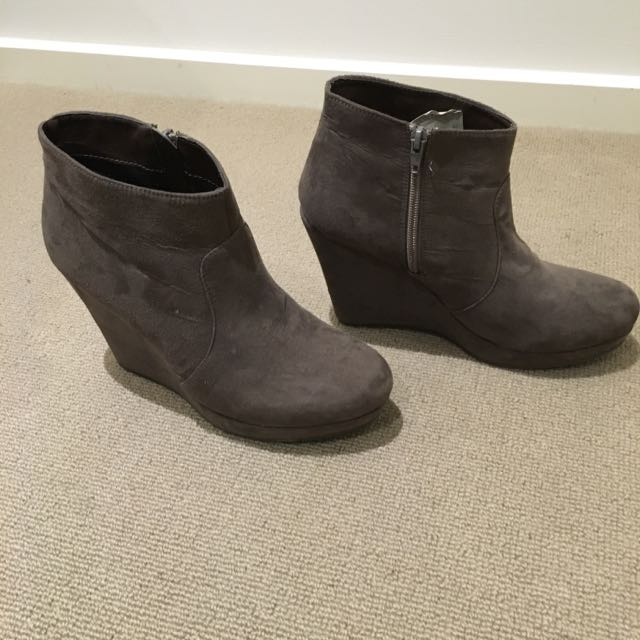 Ankle Wedge Boots