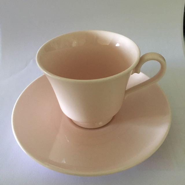 Baby Pink Teacup & Saucer Set (Small)