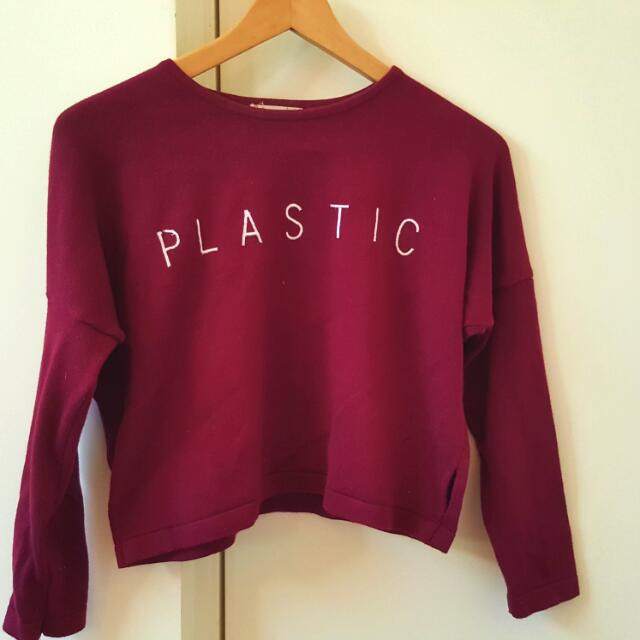 Burgundy Long Sleeve Knit/shirt