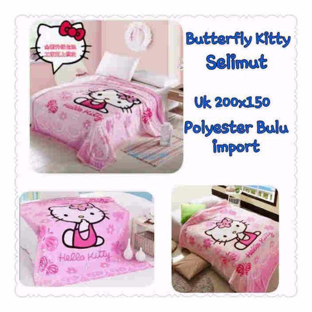 butterfly kitty selimut
