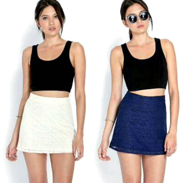 Forever 21 Sweet Lace Mini Skirt