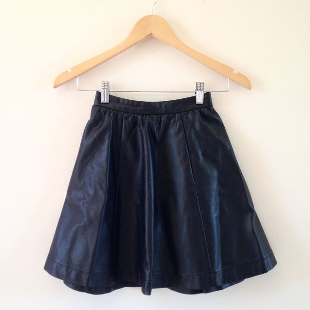Glassons faux leather skater skirt