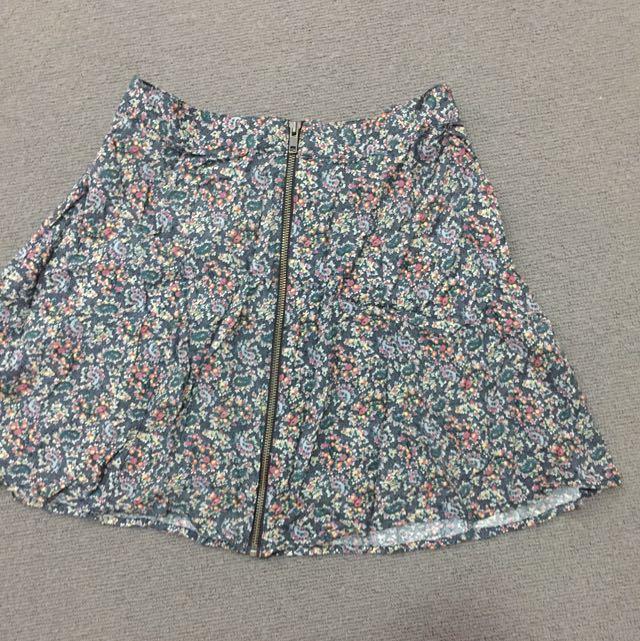 Highwaist Floral Skirt 6