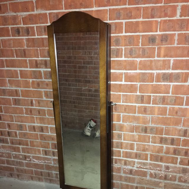 Jewellery Cabinet With Full Length Mirror