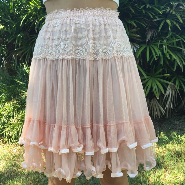 Lace And Ribbon Skirt Handmade Price Negotiable