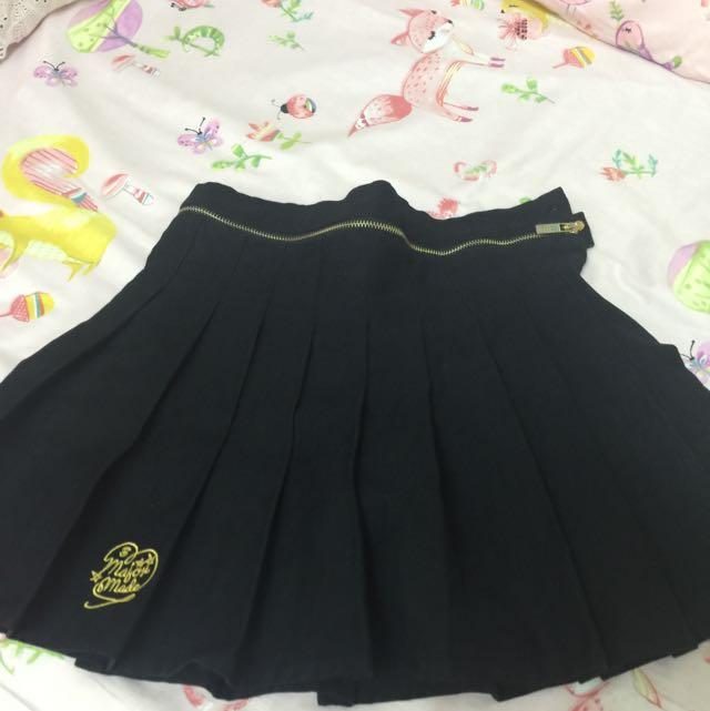 Major Made Mjr 黑色百褶裙 M號