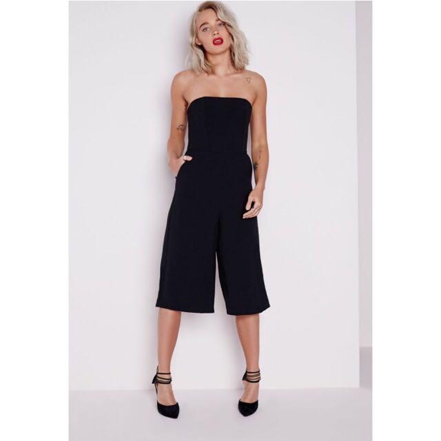 Missguided Bandeau Culotte Jumpsuit Size 8