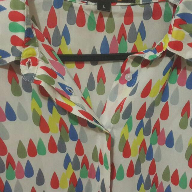 Multi Coloured Print Shirt