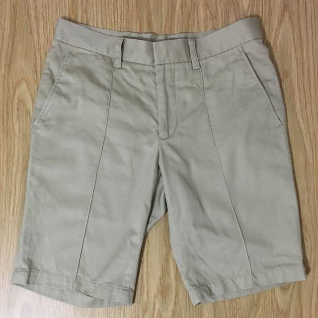 Plain-me 膝上短褲 卡其短褲 S號