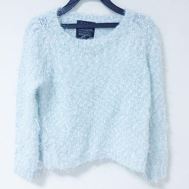 薄荷綠QQ毛衣 冬季出清偏短版質感很好