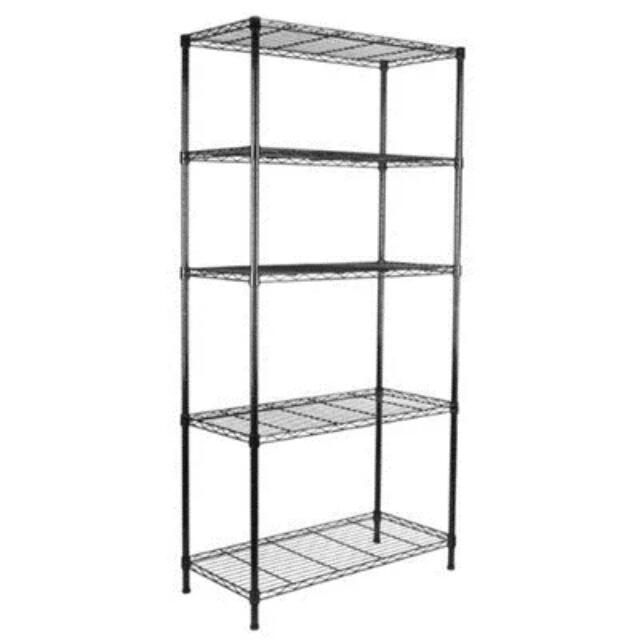 . Steel Wire Rack Shelving  Home   Furniture on Carousell