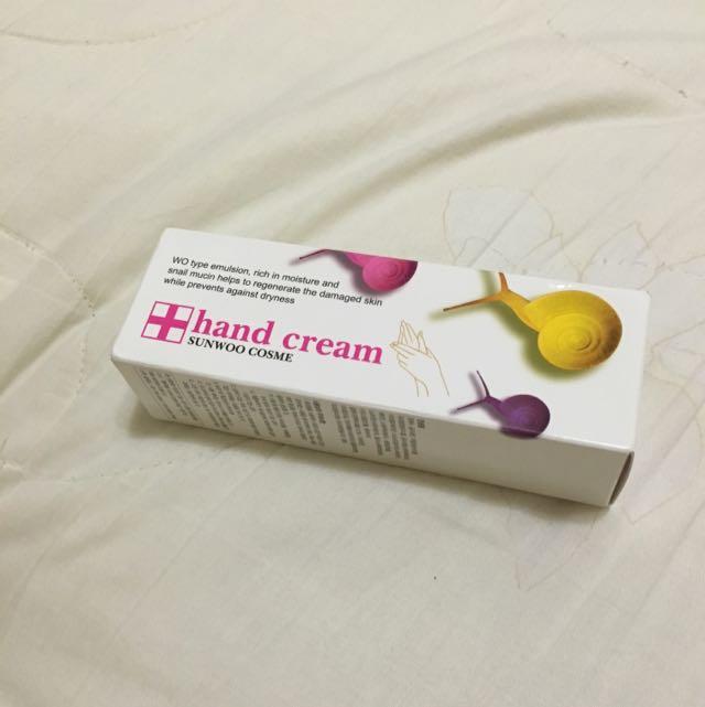 (即期品)Sunwoo Cosme蝸牛護手霜50g 買就送面膜ㄧ片