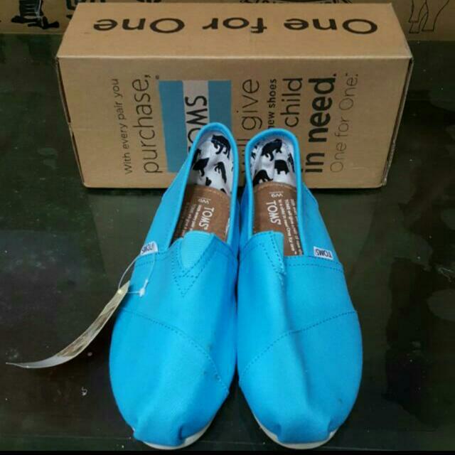 TOMS Canvas Classics 經典帆布鞋 懶人鞋 休閒鞋 樂福鞋 藍色