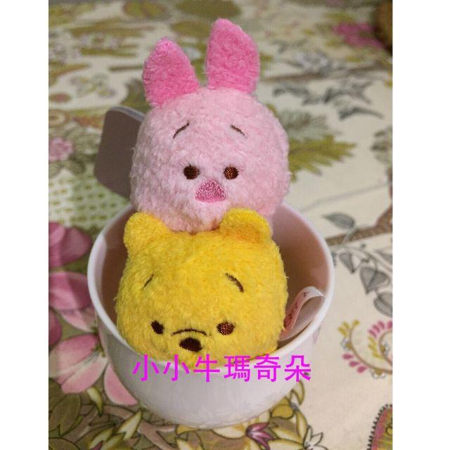 ~小小牛瑪奇朵~日本東京迪士尼TSUM TSUM疊疊樂吊飾有小熊維尼