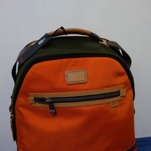 Tumi Alpha 正品 春夏款 亮橘後背包
