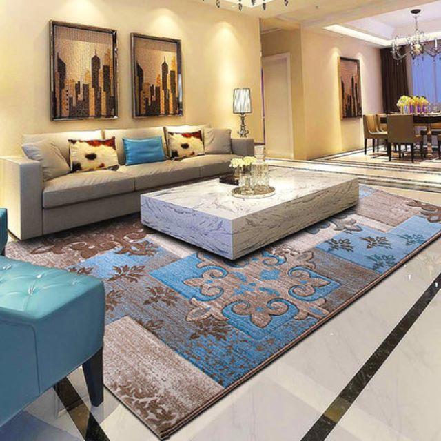 Turkish Art Carpet Perspective Pattern Modern Minimalist Living Room Coffee Table Carpet Bedroom