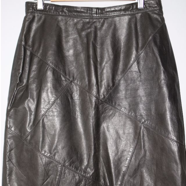 Vintage Australian Made 100% Leather A-Line Women's Skirt.