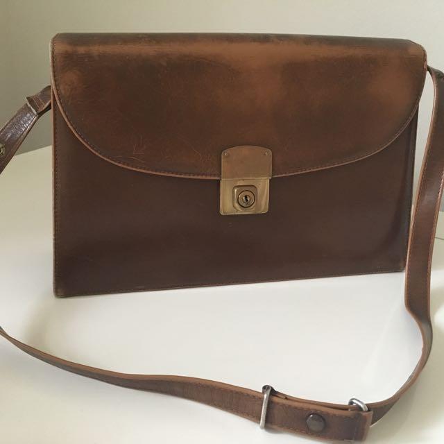 Vintage handbag - Brown