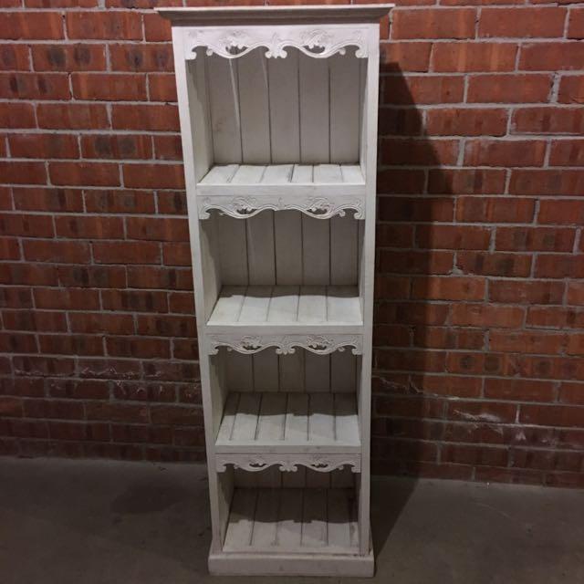White Wash Bookcase