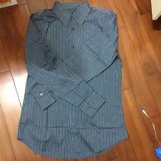 Hang Ten 16/m長袖深藍條紋襯衫