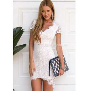 New - Xenia Willow Lace Dress (White)