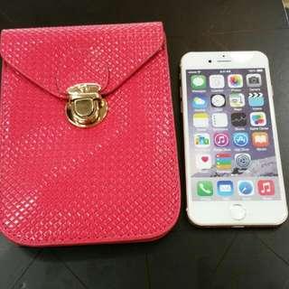 I-Phone6S斜跨 手機,零錢包