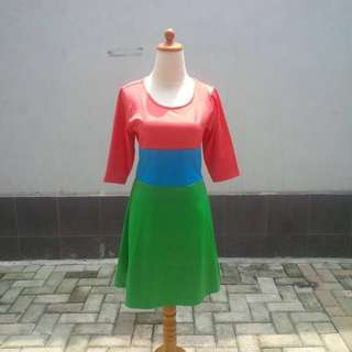Multicolor Short Dress