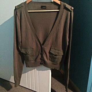Bardot Military Cardigan